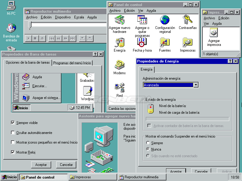 Foto de Windows 95 y su escritorio (4/5)