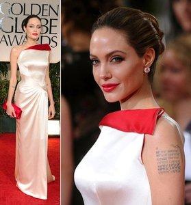 Angelina Jolie triunfó en los Globos de Oro 2012 gracias a su Atelier Versace