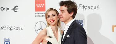 Marta Hazas se apunta a la tendencia del vestido esmoquin en los Premios Forqué 2020