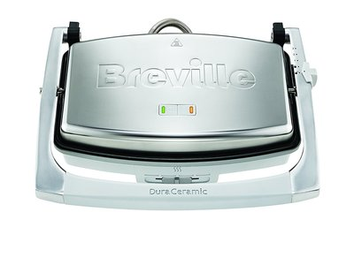 Por 39,90 euros tenemos esta sandwichera tipo panini con revestimiento DuraCeramic Breville VST071X en Amazon