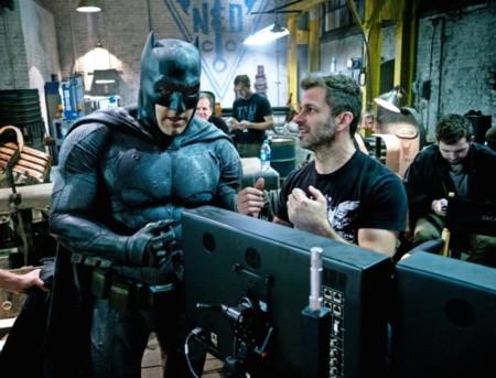 Zack Snyder y Ben Affleck en el rodaje de Batman v Superman