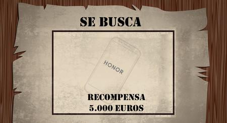 Se busca: Honor ha perdido un prototipo de smartphone y ofrece 5.000 euros de recompensa