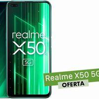 El cupón BTS40 de AliExpress Plaza te deja un smartphone con 5G como el Realme X50 por sólo 299 euros