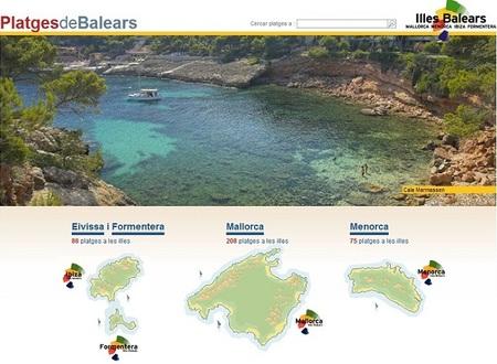 Las playas de Baleares en una web