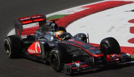 Lewis Hamilton a la cabeza el viernes en el Gran Premio de Italia