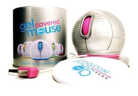 Jelfin, ratón con forma de bola y suave