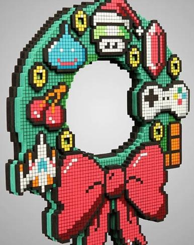 adorno navidad pixelado 2