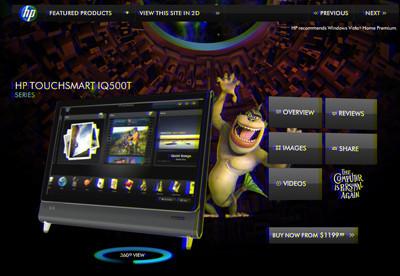 HP estaría pensando en pantallas 3D para sus portátiles