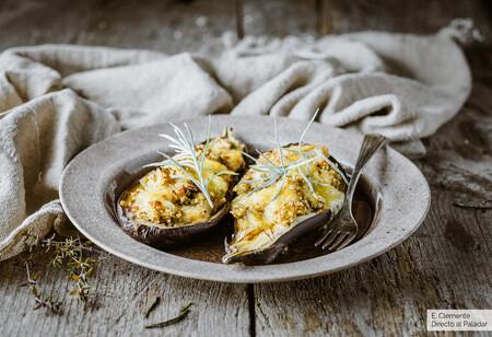 berenjena bulgur queso horno san simon rellena