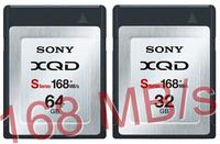 Sony XQD S-series de 32 GB y 64GB: 168 MB/s y subiendo