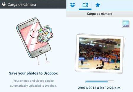 Dropbox se actualiza y permite la subida automática de fotos y vídeos en segundo plano