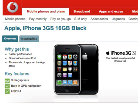 iPhone 3GS Vodafone UK
