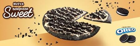 Azúcar, grasas saturadas y carbohidratos: todo lo que te metes al cuerpo si pides la nueva pizza Sweet con Oreo de Telepizza