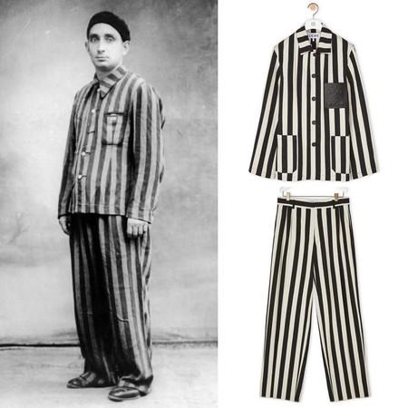 Loewe, repitiendo los errores de Gucci y Zara, retira un conjunto que recuerda al de los uniformes de los campos de concentración nazis