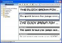 Organiza tus fuentes de letras con FontsOnCD