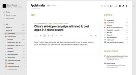 Feedly, una gran alternativa a Google Reader para iOS y OS X