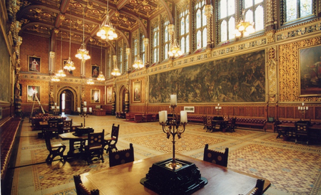 La Royal Gallery del Palacio de Westminster se empezará a alquilar para eventos