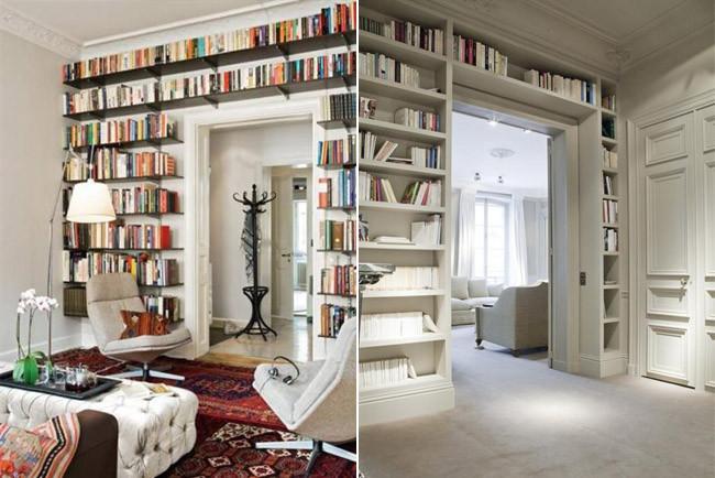 Estanter as que rodean una puerta un buen recurso decorativo - Puertas para estanterias ...