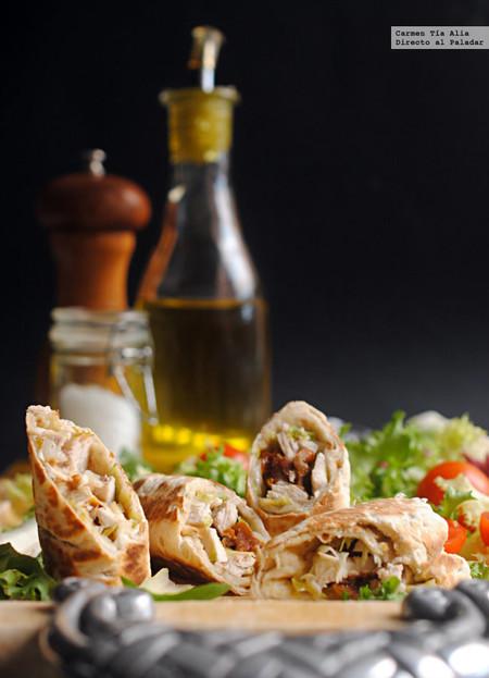Rollitos de pollo y salsa de anchoas: