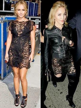 Vestido de Caroline Seikaly:¿Hayden o Maddona?
