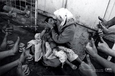 """Los """"me gusta"""" no ayudan, genial campaña publicitaria para Crisis Relief"""