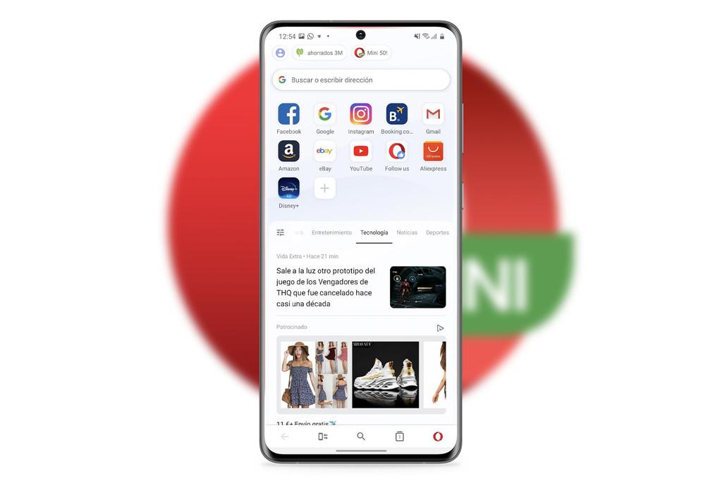 Opera Mini: el navegador para celulares económicos se actualiza con alguna nueva interface y elecciones de personalización