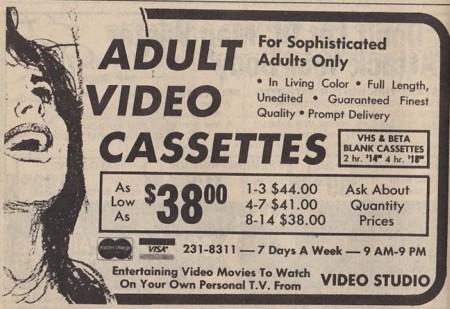 No, el VHS no triunfó frente al Betamax porque no hubiese porno en este último