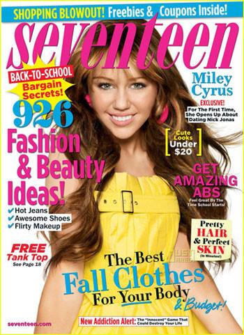 Miley Cyrus portada en Seventeen en septiembre