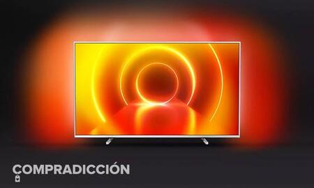 Esta smart TV Philips 55PUS7855/12 te ofrece Ambilight y 55 pulgadas 4K por sólo 462 euros con envío gratis en Amazon y en PcComponentes