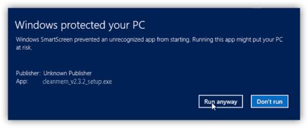 Run anyway SmartScreen