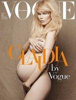 Claudia Schiffer demuestra que belleza y embarazo no están reñidos