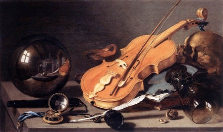 Vanitas Violin And Glass Ball