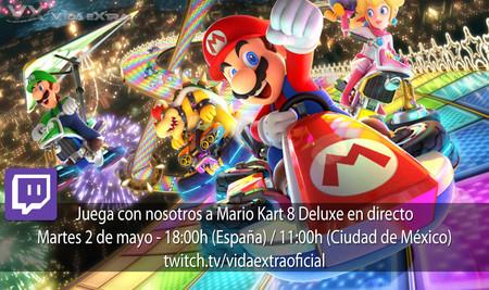 Juega con nosotros a Mario Kart 8 Deluxe en directo hoy a las 18:00h (las 11:00h en Ciudad de México) [finalizado]