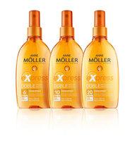 Nuevos solares Anne Mollër efecto long-lasting: aceites secos y faciales para piel sensible