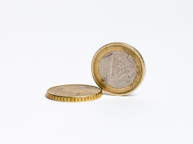 Dos monedas de euro.