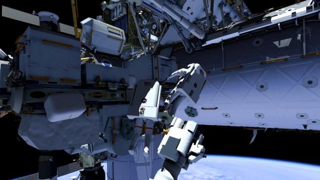 La próxima caminata espacial de la Estación Espacial Internacional en 3D