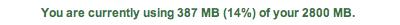 Gmail alcanza los 2.8GB de espacio