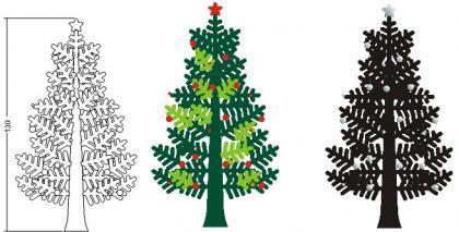Un árbol de Navidad que no ocupa espacio