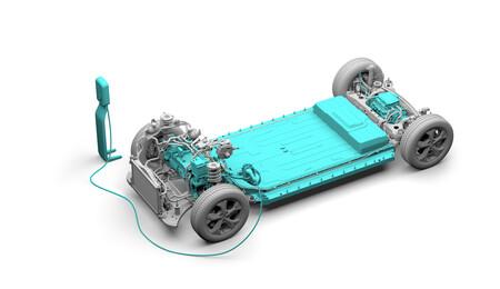 Ford Mustang Mach-E esquema baterías