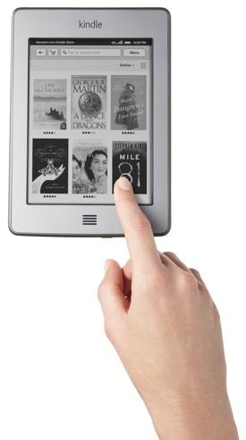 Kindle Touch pantalla táctil