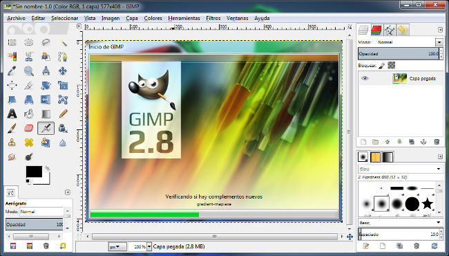 GIMP 2.8 en Windows 7