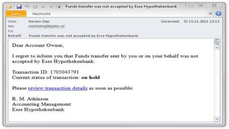 Una nueva oleada de spam intenta propagar el troyano ZeuS