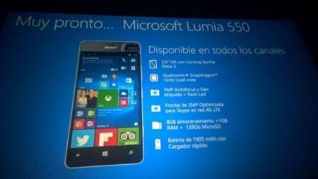 Lumia 550 Spec