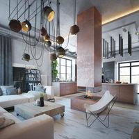 El estilo industrial se renueva: descubre esta casa en Minsk