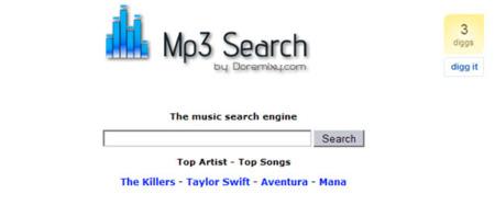 Mp3 Search, otro buscador más de temas musicales