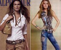 "Ralph Lauren se le va la mano, ""adelgaza"" extremadamente a una modelo"