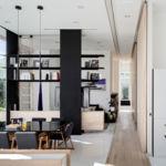 Una ingeniosa manera de crear espacios diferentes en un apartamento en open space