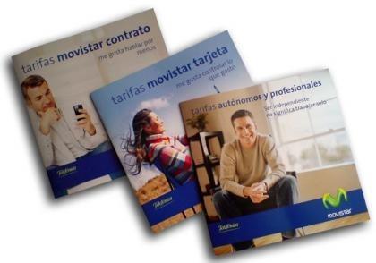 Nuevos folletos Movistar: muchos decimales, poco comerciales