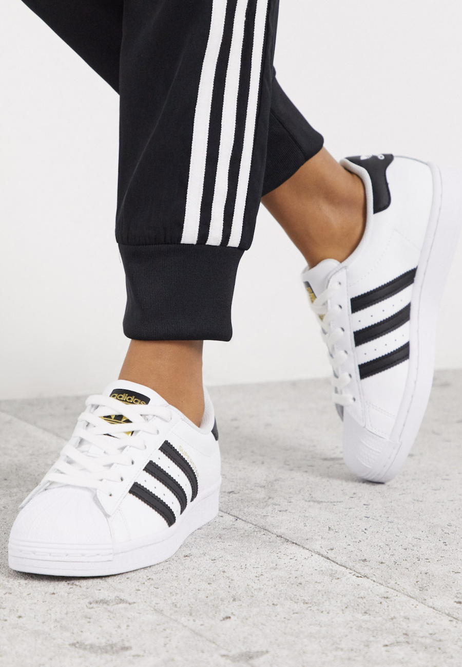 Zapatillas en blanco y negro Superstar de adidas Originals