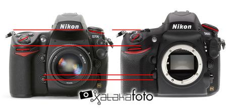 Nikon D800 - D700